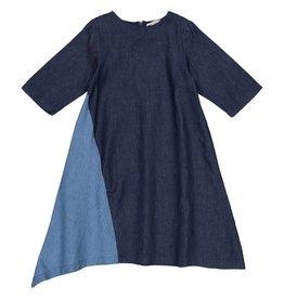 Teela Two Tone Dress Dark Denim
