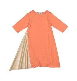 Teela Two Tone Dress Salmon