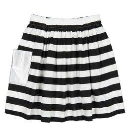 Teela Pocket Solid Skirt Black/White