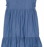 Belati Denim Dress with Patches Blue