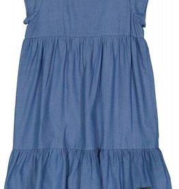 Belati Denim Dress with Patches Blue