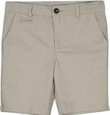 Belati Textured Linen Bermudas with Straight Pockets Beige