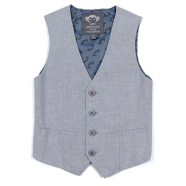 Appaman TAILORED VEST dusty blue