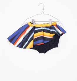 MOTORETA Skort Black & Color Stripes