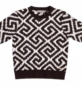 pompomme Boy Jacquard Knit Sweater Black/Off White