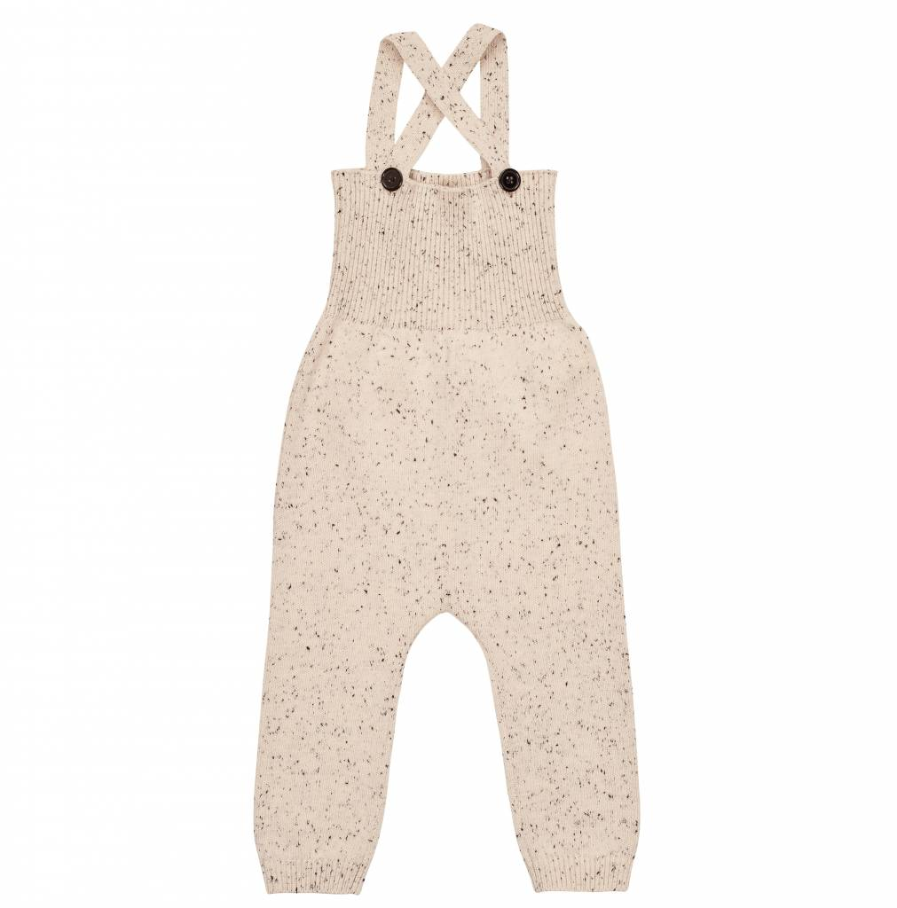 pompomme Baby Speckled Knit Romper Off White/Black
