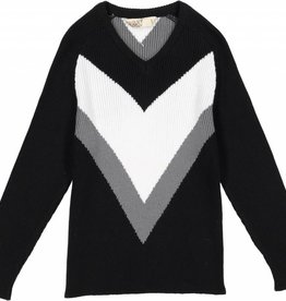 Nove Knit with V Design Black