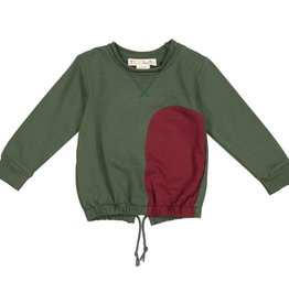 Teela RITZ Drawstring Patch Top Army Green