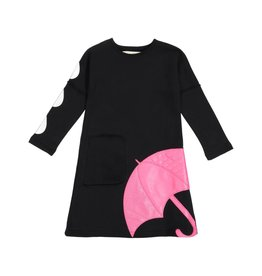 Teela JADE Umbrella Dress Black/Pink