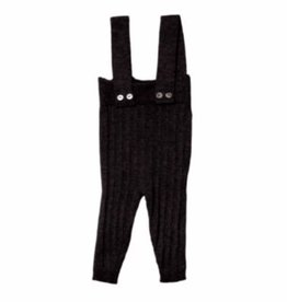 Belati Ribbed Suspender Pants Black