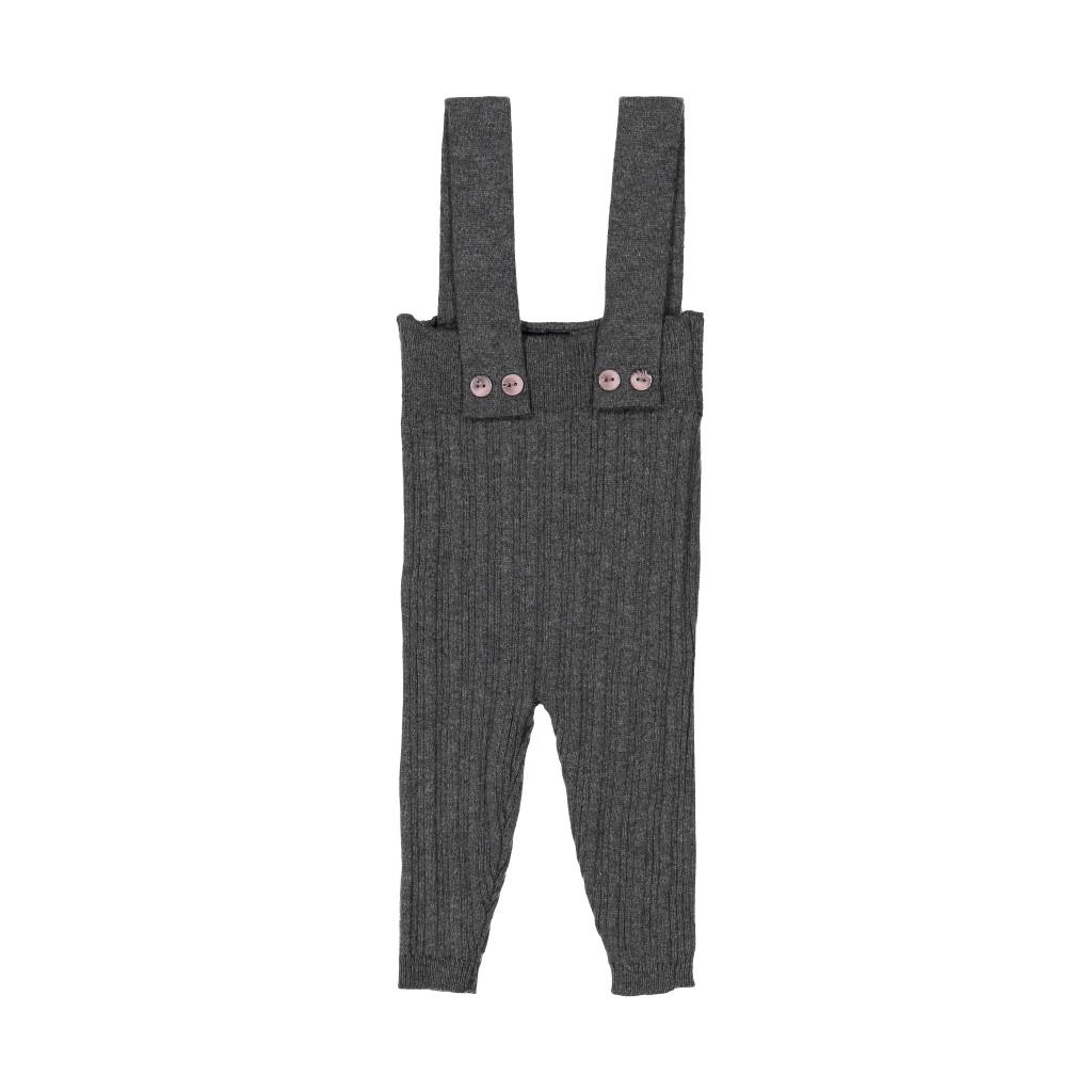 Belati Ribbed Suspender Pants Grey