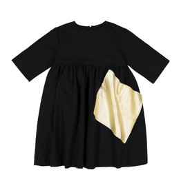 Teela LEO Patch Dress Black/Champagne