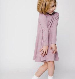 Crew Kids Rib Turtleneck Dress Blush