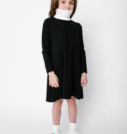 Crew Kids Rib Turtleneck Dress Black