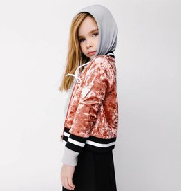 Crew Kids Crushed Velvet Bomber Blush