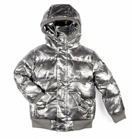 Appaman Puffy Coat Gunmetal Camo