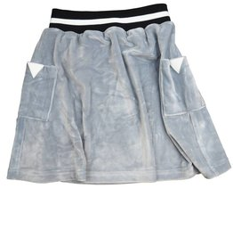 Crew Kids Short Velour Skirt Silver