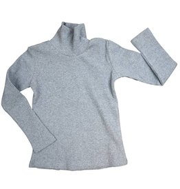 Crew Kids Rib Long Sleeve Turtleneck Grey