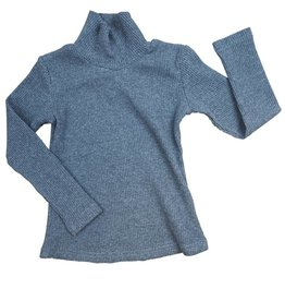 Crew Kids Rib Long Sleeve Turtleneck Charcoal
