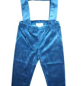 Whitlow & Hawkins Velvet Baby Boy Suspender Pants