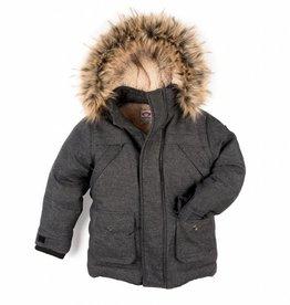 Appaman Denali Down Coat Charcoal Tweed