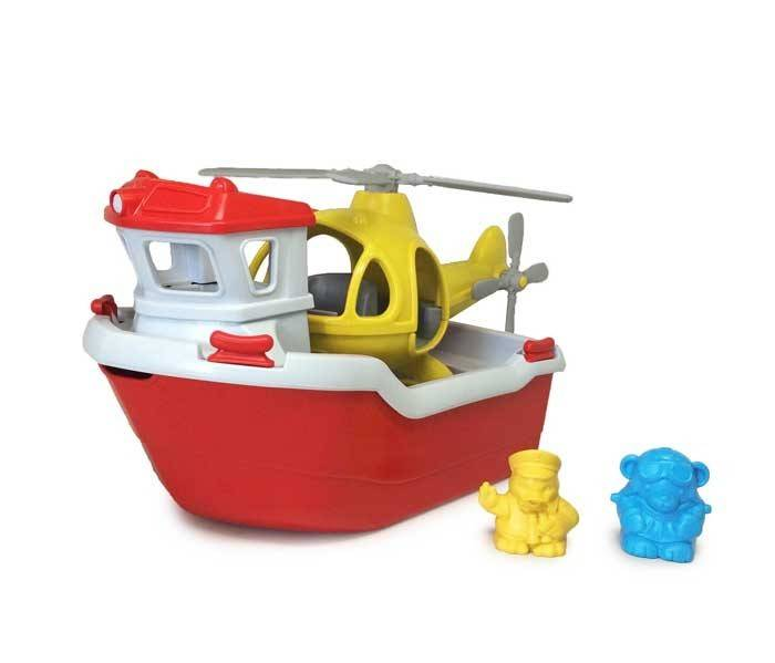 Green Toys Green Toys Rescue Boat and Helicopter