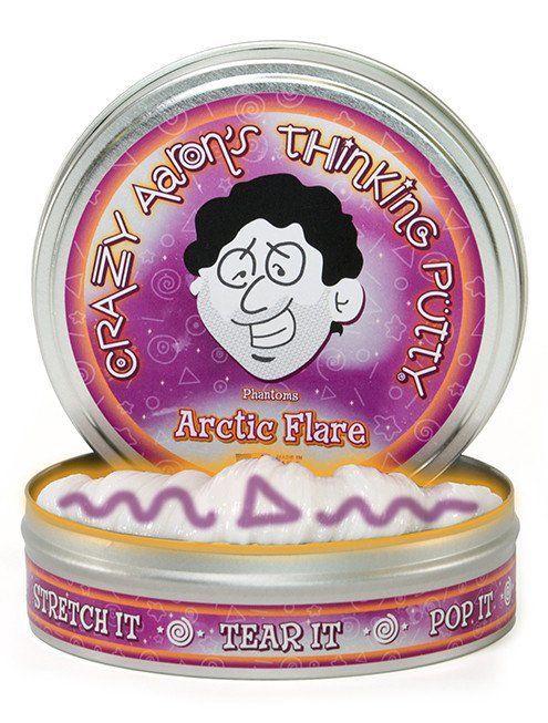 "Crazy Aaron's Thinking Putty Crazy Aaron's 4"" Tin - Phantom - Arctic Flare"
