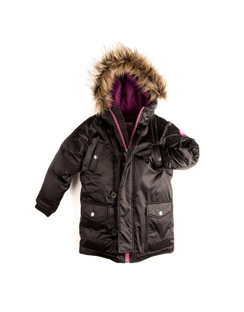 Appaman Girls Morningside Black Anorak Coat