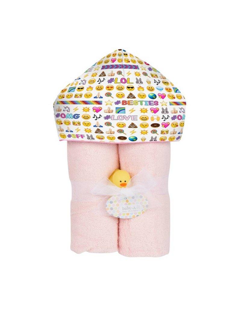 Baby Jar Emoji Hooded Towel