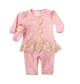 Too Sweet Pink Peplum Outfit