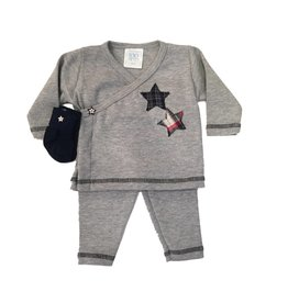 Too Sweet Grey 2pc with Plaid Stars