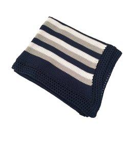 Gita Navy Stripe Blanket