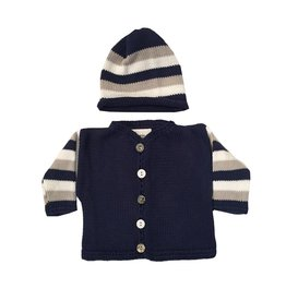 Gita Navy Stripe Sweater with Hat