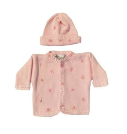 Gita Pink Sequin Flower Sweater with Hat