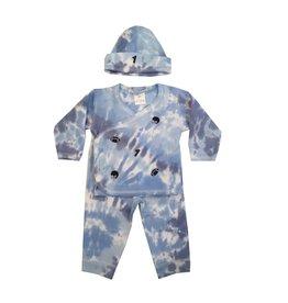 Baby Steps Blue Tie Dye Football 3-Pc Set