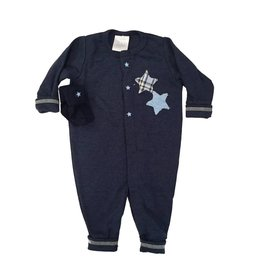 Too Sweet Navy Outfit with Plaid Stars