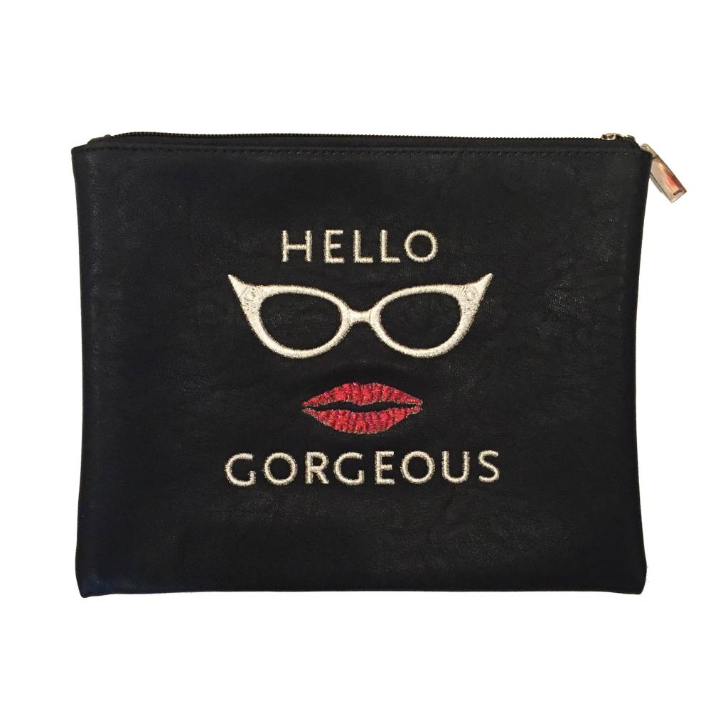 Travel Pouch Hello Gorgeous Black