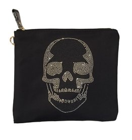 Travel Pouch (Large) Black Skull