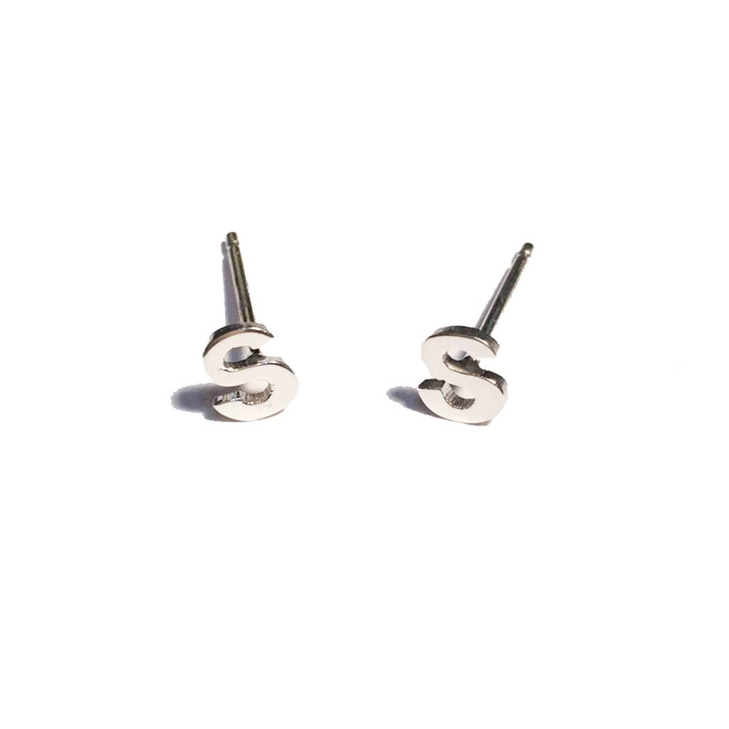 ban stud on products tiny initial bing earrings do by figure bang