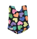 Doll Swimsuit Hearts on Black