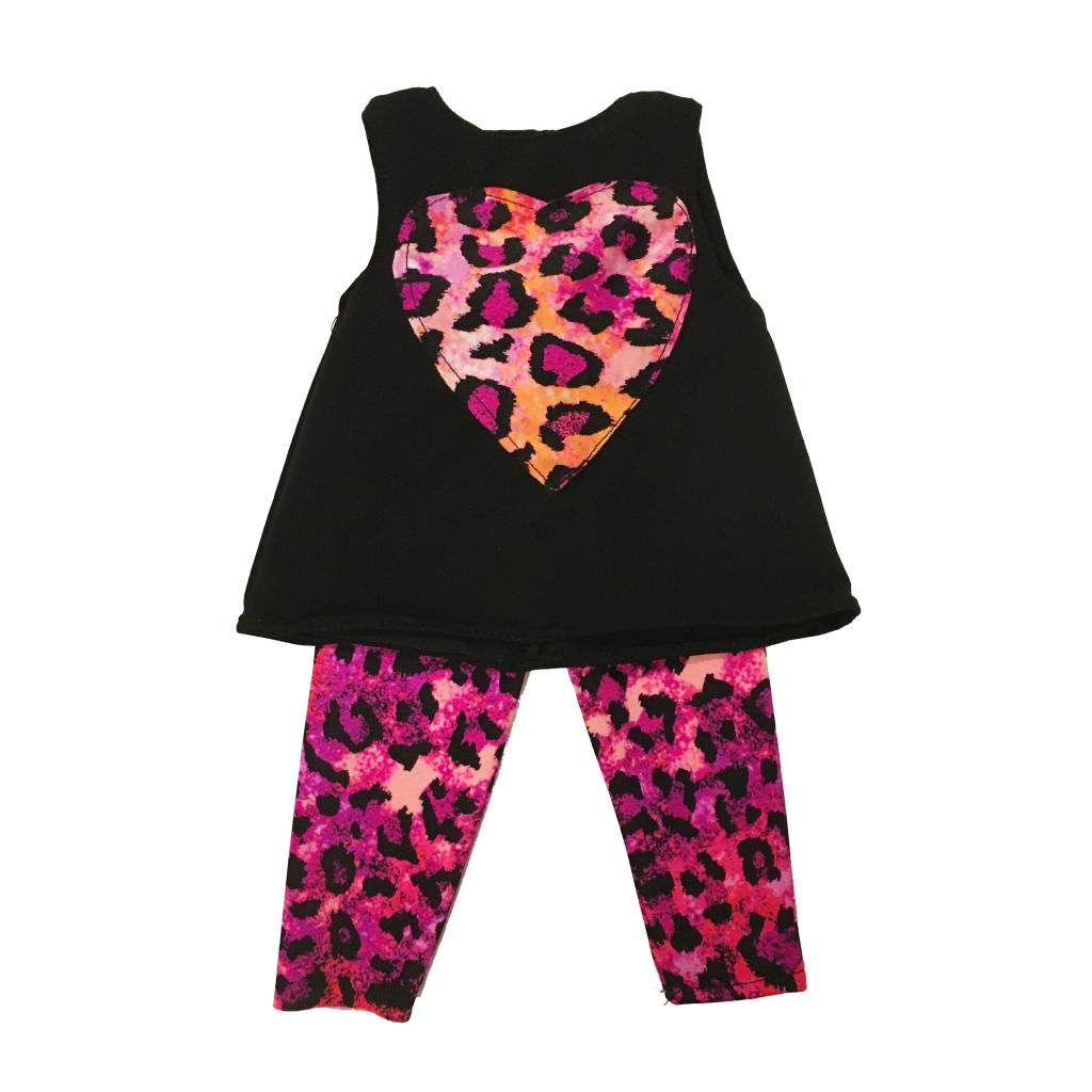 Doll Outfit Pink Leopard