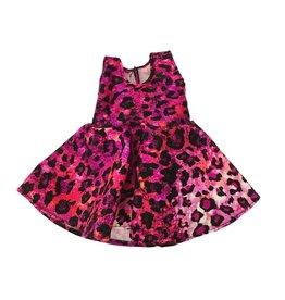 Doll Dress Pink Leopard