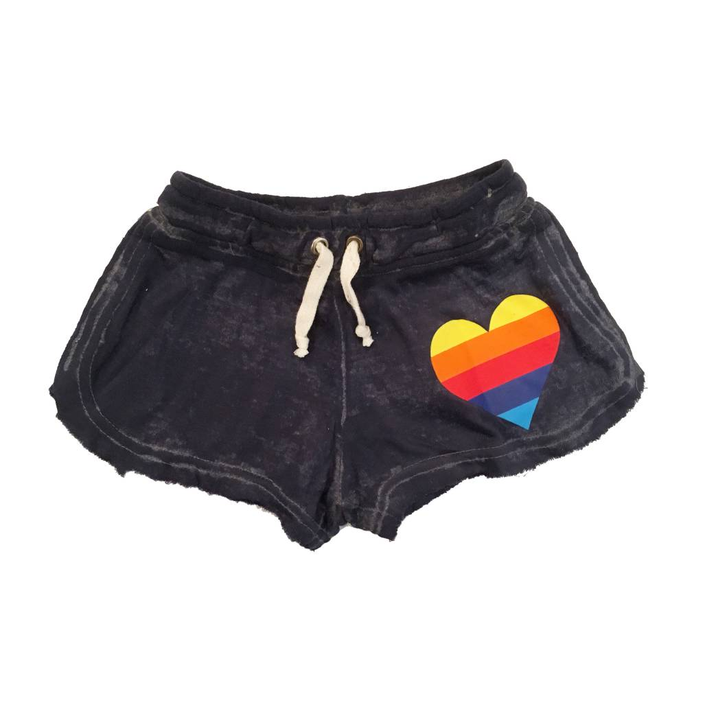 Play Six Rainbow Heart Burnout Shorts