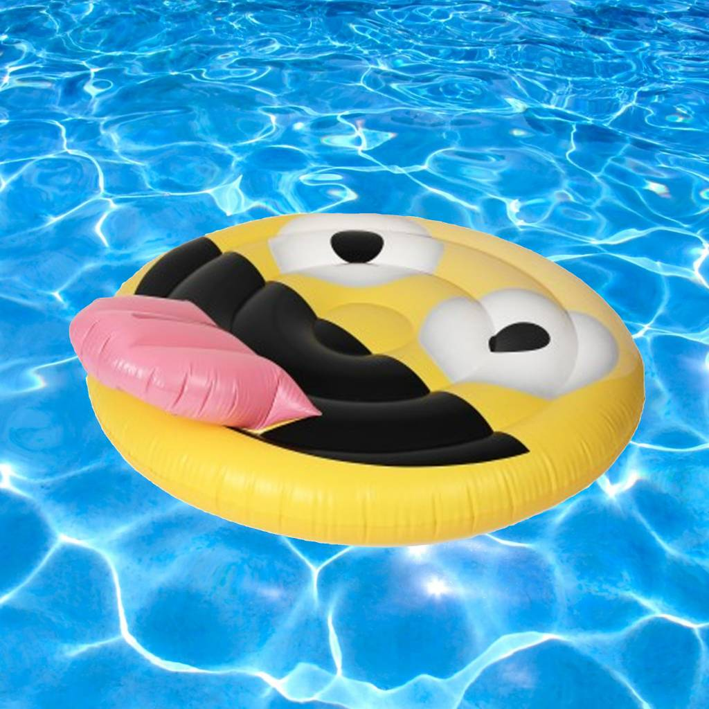 Giant Emoji Pool Float - Precious Cargo