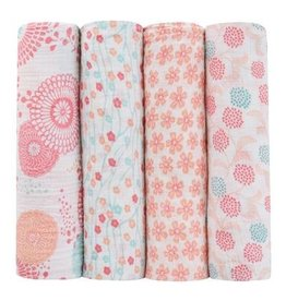 Aden + Anais Global Garden 4pk Swaddles