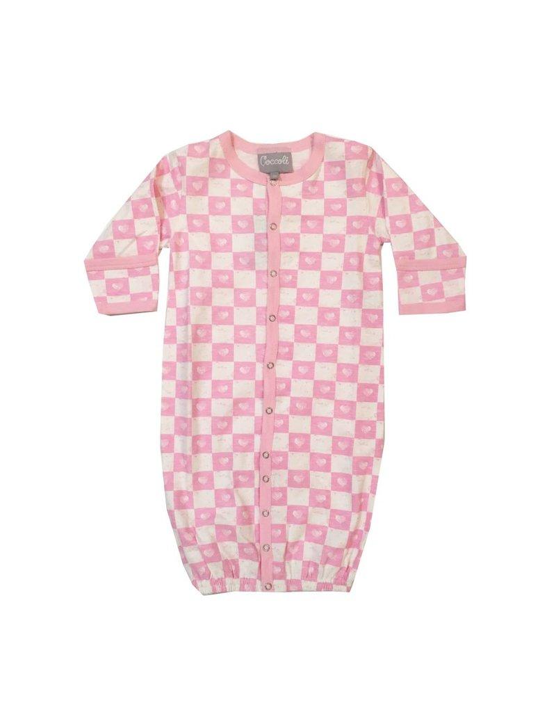 Coccoli Checkered Hearts Gown