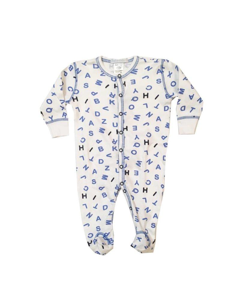 Baby Steps Blue Alphabet Footie
