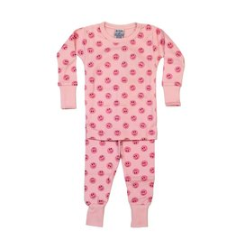 Baby Steps Pink Smiley PJ Set