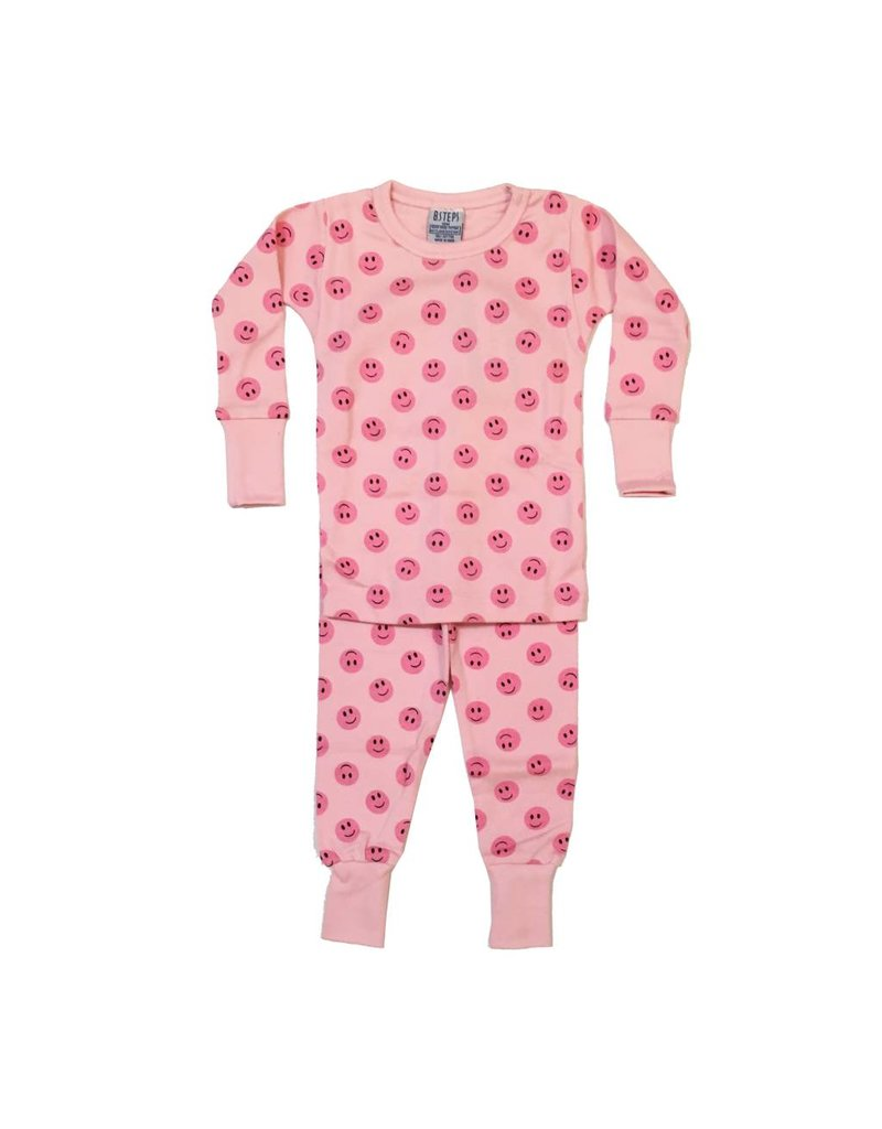 Baby Steps Pink Smiley PJ Set