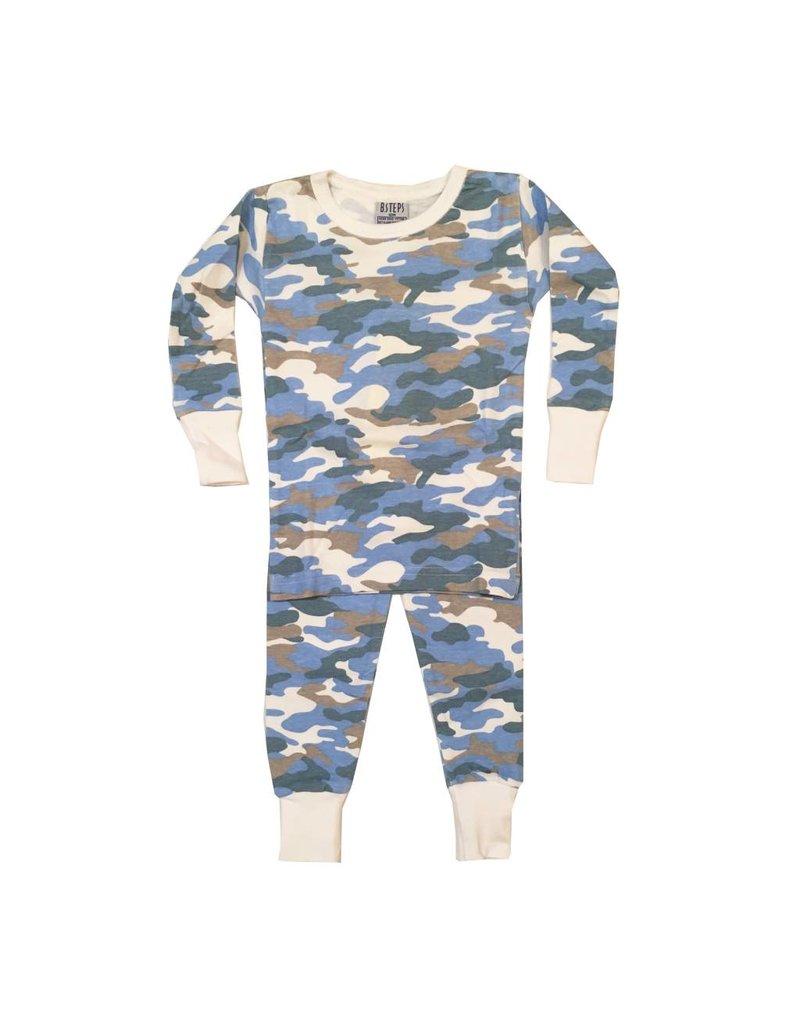 Baby Steps Blue Camo PJ Set